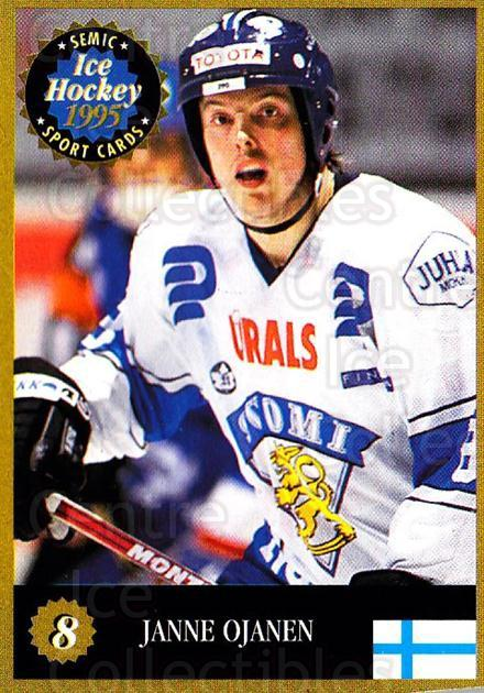 1995 Finnish Semic World Championships #8 Janne Ojanen<br/>4 In Stock - $2.00 each - <a href=https://centericecollectibles.foxycart.com/cart?name=1995%20Finnish%20Semic%20World%20Championships%20%238%20Janne%20Ojanen...&quantity_max=4&price=$2.00&code=152944 class=foxycart> Buy it now! </a>
