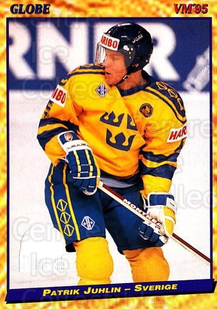 1995 Swedish Globe World Championships #31 Patrik Juhlin<br/>13 In Stock - $2.00 each - <a href=https://centericecollectibles.foxycart.com/cart?name=1995%20Swedish%20Globe%20World%20Championships%20%2331%20Patrik%20Juhlin...&quantity_max=13&price=$2.00&code=152966 class=foxycart> Buy it now! </a>