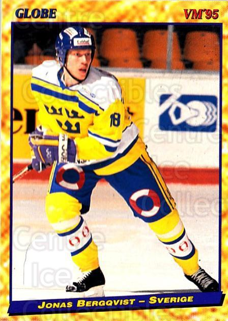 1995 Swedish Globe World Championships #34 Jonas Bergqvist<br/>12 In Stock - $2.00 each - <a href=https://centericecollectibles.foxycart.com/cart?name=1995%20Swedish%20Globe%20World%20Championships%20%2334%20Jonas%20Bergqvist...&price=$2.00&code=152969 class=foxycart> Buy it now! </a>