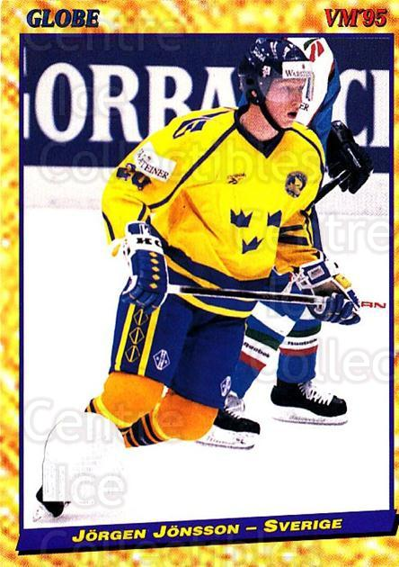 1995 Swedish Globe World Championships #38 Jorgen Jonsson<br/>11 In Stock - $2.00 each - <a href=https://centericecollectibles.foxycart.com/cart?name=1995%20Swedish%20Globe%20World%20Championships%20%2338%20Jorgen%20Jonsson...&price=$2.00&code=152973 class=foxycart> Buy it now! </a>