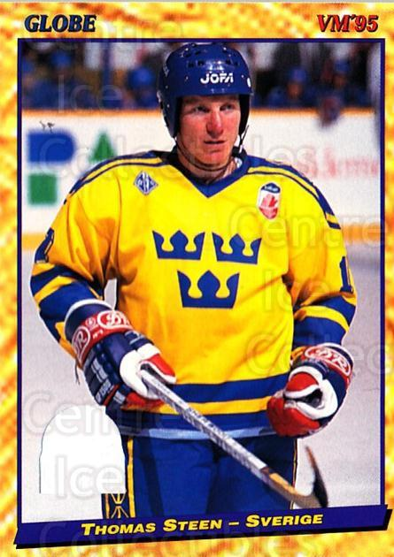 1995 Swedish Globe World Championships #40 Thomas Steen<br/>13 In Stock - $2.00 each - <a href=https://centericecollectibles.foxycart.com/cart?name=1995%20Swedish%20Globe%20World%20Championships%20%2340%20Thomas%20Steen...&quantity_max=13&price=$2.00&code=152976 class=foxycart> Buy it now! </a>