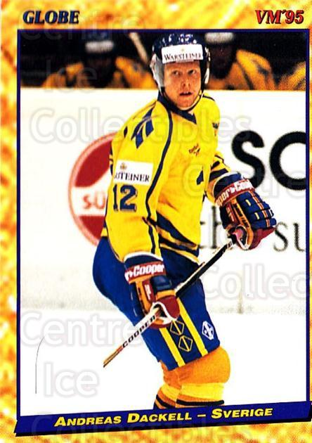 1995 Swedish Globe World Championships #44 Andreas Dackell<br/>12 In Stock - $2.00 each - <a href=https://centericecollectibles.foxycart.com/cart?name=1995%20Swedish%20Globe%20World%20Championships%20%2344%20Andreas%20Dackell...&price=$2.00&code=152980 class=foxycart> Buy it now! </a>