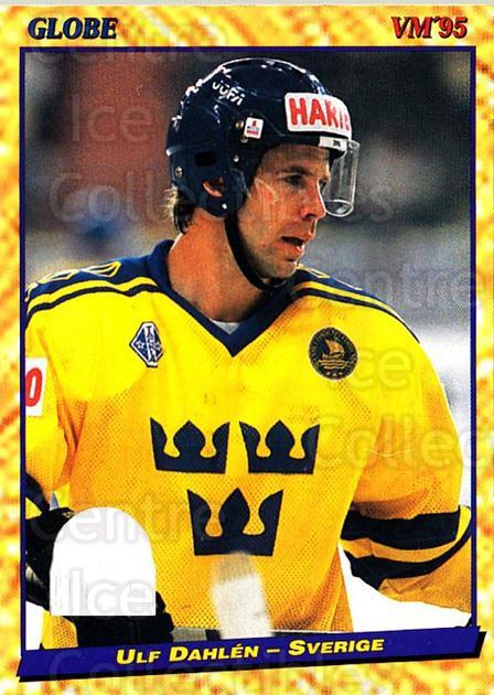1995 Swedish Globe World Championships #48 Ulf Dahlen<br/>12 In Stock - $2.00 each - <a href=https://centericecollectibles.foxycart.com/cart?name=1995%20Swedish%20Globe%20World%20Championships%20%2348%20Ulf%20Dahlen...&price=$2.00&code=152984 class=foxycart> Buy it now! </a>