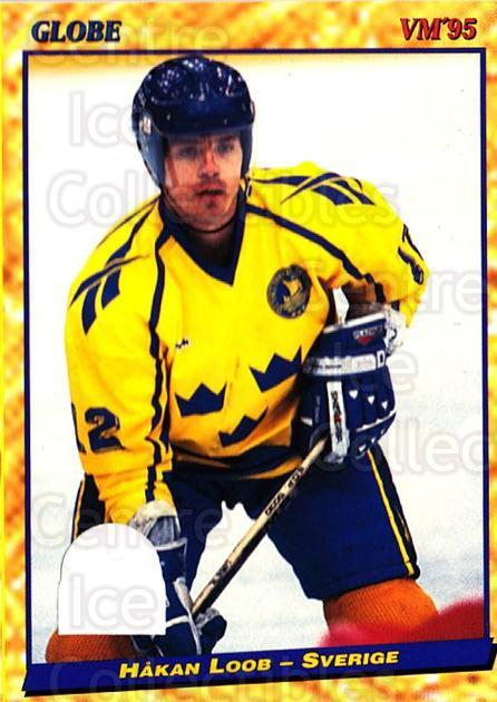 1995 Swedish Globe World Championships #52 Hakan Loob<br/>11 In Stock - $2.00 each - <a href=https://centericecollectibles.foxycart.com/cart?name=1995%20Swedish%20Globe%20World%20Championships%20%2352%20Hakan%20Loob...&price=$2.00&code=152989 class=foxycart> Buy it now! </a>