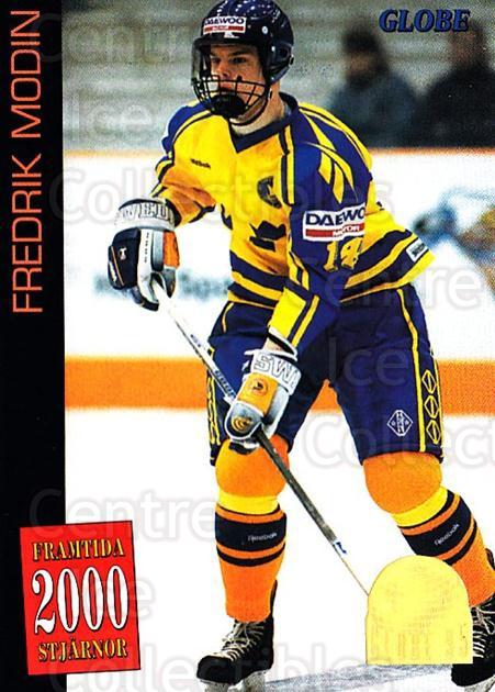 1995 Swedish Globe World Championships #59 Fredrik Modin<br/>10 In Stock - $2.00 each - <a href=https://centericecollectibles.foxycart.com/cart?name=1995%20Swedish%20Globe%20World%20Championships%20%2359%20Fredrik%20Modin...&quantity_max=10&price=$2.00&code=152996 class=foxycart> Buy it now! </a>