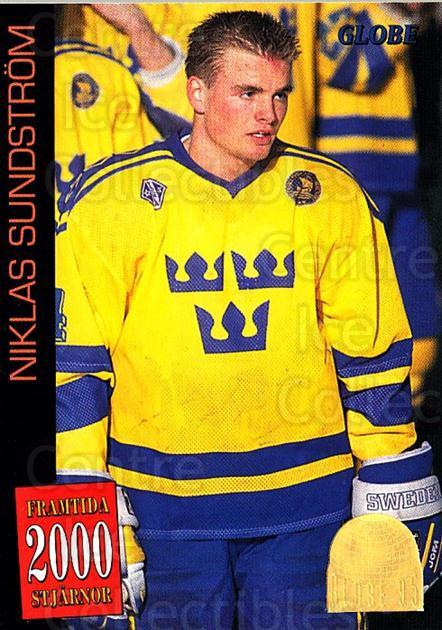 1995 Swedish Globe World Championships #60 Niklas Sundstrom<br/>11 In Stock - $2.00 each - <a href=https://centericecollectibles.foxycart.com/cart?name=1995%20Swedish%20Globe%20World%20Championships%20%2360%20Niklas%20Sundstro...&price=$2.00&code=152998 class=foxycart> Buy it now! </a>