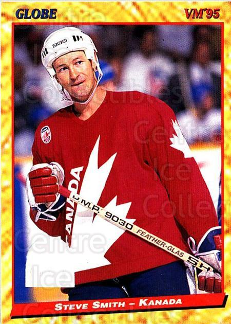 1995 Swedish Globe World Championships #78 Steve Smith<br/>12 In Stock - $2.00 each - <a href=https://centericecollectibles.foxycart.com/cart?name=1995%20Swedish%20Globe%20World%20Championships%20%2378%20Steve%20Smith...&quantity_max=12&price=$2.00&code=153010 class=foxycart> Buy it now! </a>