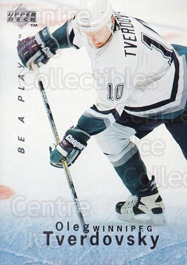 1995-96 Be A Player #61 Oleg Tverdovsky<br/>5 In Stock - $1.00 each - <a href=https://centericecollectibles.foxycart.com/cart?name=1995-96%20Be%20A%20Player%20%2361%20Oleg%20Tverdovsky...&quantity_max=5&price=$1.00&code=153095 class=foxycart> Buy it now! </a>