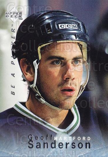 1995-96 Be A Player #62 Geoff Sanderson<br/>4 In Stock - $1.00 each - <a href=https://centericecollectibles.foxycart.com/cart?name=1995-96%20Be%20A%20Player%20%2362%20Geoff%20Sanderson...&quantity_max=4&price=$1.00&code=153096 class=foxycart> Buy it now! </a>