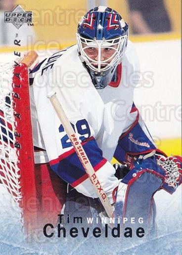 1995-96 Be A Player #76 Tim Cheveldae<br/>5 In Stock - $1.00 each - <a href=https://centericecollectibles.foxycart.com/cart?name=1995-96%20Be%20A%20Player%20%2376%20Tim%20Cheveldae...&quantity_max=5&price=$1.00&code=153111 class=foxycart> Buy it now! </a>