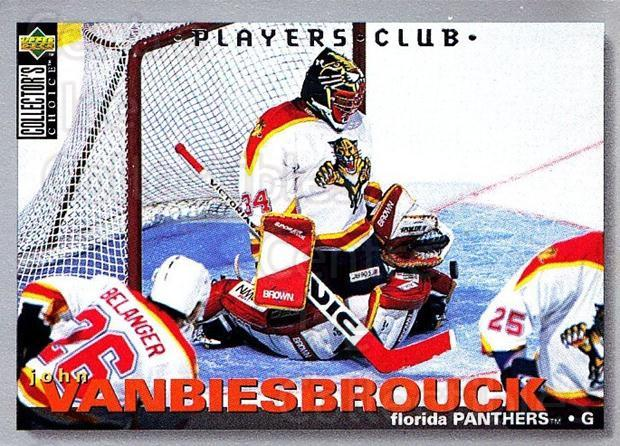 1995-96 Collectors Choice Players Club #253 John Vanbiesbrouck<br/>2 In Stock - $2.00 each - <a href=https://centericecollectibles.foxycart.com/cart?name=1995-96%20Collectors%20Choice%20Players%20Club%20%23253%20John%20Vanbiesbro...&quantity_max=2&price=$2.00&code=153457 class=foxycart> Buy it now! </a>