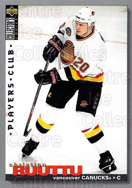 1995-96 Collectors Choice Players Club #278 Christian Ruuttu<br/>4 In Stock - $2.00 each - <a href=https://centericecollectibles.foxycart.com/cart?name=1995-96%20Collectors%20Choice%20Players%20Club%20%23278%20Christian%20Ruutt...&quantity_max=4&price=$2.00&code=153480 class=foxycart> Buy it now! </a>