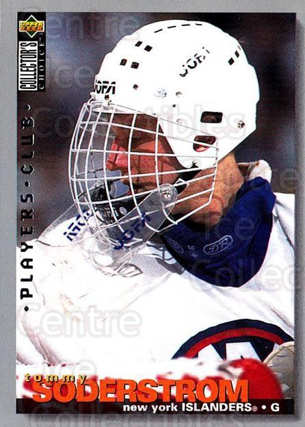 1995-96 Collectors Choice Players Club #28 Tommy Soderstrom<br/>5 In Stock - $2.00 each - <a href=https://centericecollectibles.foxycart.com/cart?name=1995-96%20Collectors%20Choice%20Players%20Club%20%2328%20Tommy%20Soderstro...&quantity_max=5&price=$2.00&code=153482 class=foxycart> Buy it now! </a>