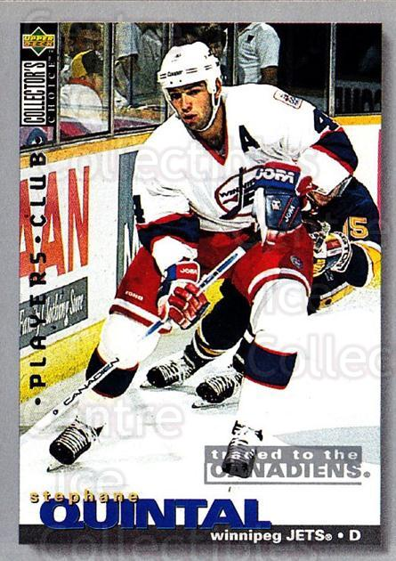 1995-96 Collectors Choice Players Club #280 Stephane Quintal<br/>5 In Stock - $2.00 each - <a href=https://centericecollectibles.foxycart.com/cart?name=1995-96%20Collectors%20Choice%20Players%20Club%20%23280%20Stephane%20Quinta...&quantity_max=5&price=$2.00&code=153483 class=foxycart> Buy it now! </a>