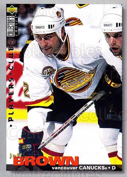 1995-96 Collectors Choice Players Club #301 Jeff Brown<br/>5 In Stock - $2.00 each - <a href=https://centericecollectibles.foxycart.com/cart?name=1995-96%20Collectors%20Choice%20Players%20Club%20%23301%20Jeff%20Brown...&quantity_max=5&price=$2.00&code=153506 class=foxycart> Buy it now! </a>
