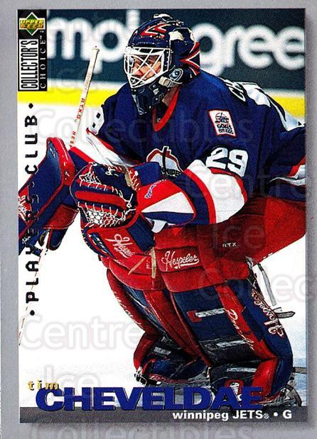 1995-96 Collectors Choice Players Club #319 Tim Cheveldae<br/>5 In Stock - $2.00 each - <a href=https://centericecollectibles.foxycart.com/cart?name=1995-96%20Collectors%20Choice%20Players%20Club%20%23319%20Tim%20Cheveldae...&quantity_max=5&price=$2.00&code=153525 class=foxycart> Buy it now! </a>