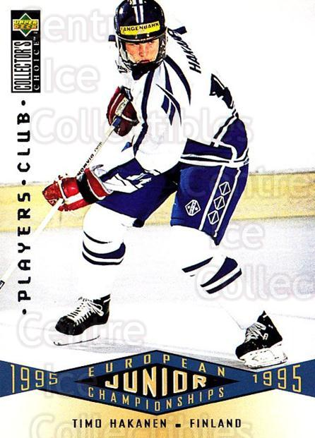 1995-96 Collectors Choice Players Club #327 Timo Hakanen<br/>5 In Stock - $2.00 each - <a href=https://centericecollectibles.foxycart.com/cart?name=1995-96%20Collectors%20Choice%20Players%20Club%20%23327%20Timo%20Hakanen...&quantity_max=5&price=$2.00&code=153533 class=foxycart> Buy it now! </a>