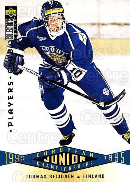 1995-96 Collectors Choice Players Club #336 Tuomas Reijonen<br/>4 In Stock - $2.00 each - <a href=https://centericecollectibles.foxycart.com/cart?name=1995-96%20Collectors%20Choice%20Players%20Club%20%23336%20Tuomas%20Reijonen...&quantity_max=4&price=$2.00&code=153540 class=foxycart> Buy it now! </a>