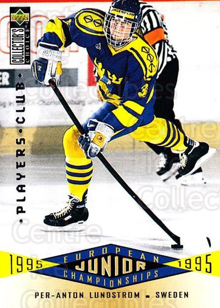 1995-96 Collectors Choice Players Club #346 Per-Anton Lundstrom<br/>5 In Stock - $2.00 each - <a href=https://centericecollectibles.foxycart.com/cart?name=1995-96%20Collectors%20Choice%20Players%20Club%20%23346%20Per-Anton%20Lunds...&quantity_max=5&price=$2.00&code=153551 class=foxycart> Buy it now! </a>