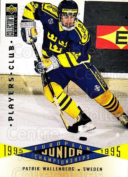 1995-96 Collectors Choice Players Club #352 Patrik Wallenberg<br/>4 In Stock - $2.00 each - <a href=https://centericecollectibles.foxycart.com/cart?name=1995-96%20Collectors%20Choice%20Players%20Club%20%23352%20Patrik%20Wallenbe...&quantity_max=4&price=$2.00&code=153558 class=foxycart> Buy it now! </a>