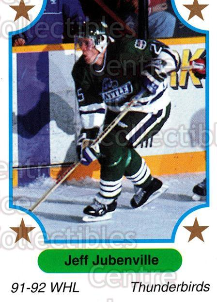 1991-92 7th Inning Sketch WHL #123 Jeff Jubenville<br/>6 In Stock - $1.00 each - <a href=https://centericecollectibles.foxycart.com/cart?name=1991-92%207th%20Inning%20Sketch%20WHL%20%23123%20Jeff%20Jubenville...&price=$1.00&code=15356 class=foxycart> Buy it now! </a>