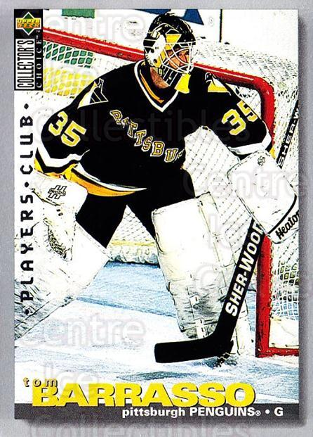 1995-96 Collectors Choice Players Club #53 Tom Barrasso<br/>2 In Stock - $2.00 each - <a href=https://centericecollectibles.foxycart.com/cart?name=1995-96%20Collectors%20Choice%20Players%20Club%20%2353%20Tom%20Barrasso...&quantity_max=2&price=$2.00&code=153596 class=foxycart> Buy it now! </a>