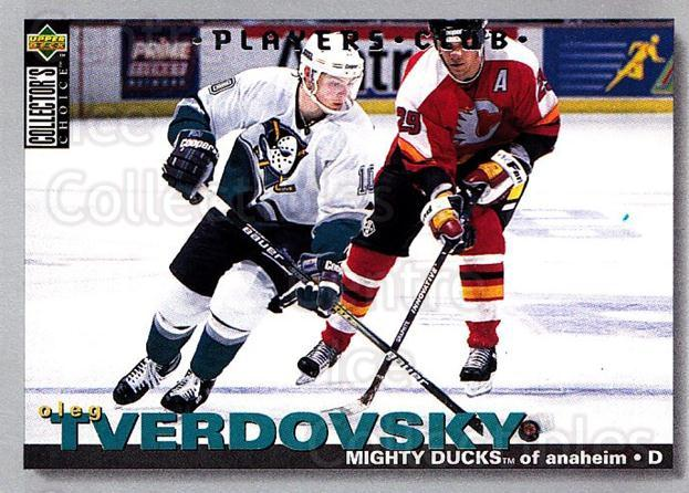 1995-96 Collectors Choice Players Club #81 Oleg Tverdovsky<br/>5 In Stock - $2.00 each - <a href=https://centericecollectibles.foxycart.com/cart?name=1995-96%20Collectors%20Choice%20Players%20Club%20%2381%20Oleg%20Tverdovsky...&quantity_max=5&price=$2.00&code=153627 class=foxycart> Buy it now! </a>