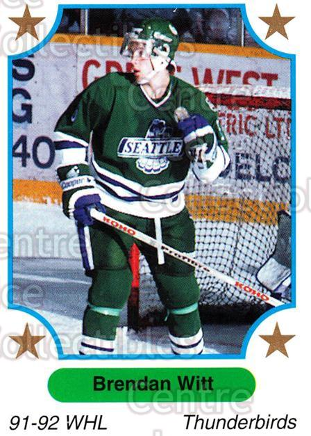 1991-92 7th Inning Sketch WHL #129 Brendan Witt<br/>6 In Stock - $1.00 each - <a href=https://centericecollectibles.foxycart.com/cart?name=1991-92%207th%20Inning%20Sketch%20WHL%20%23129%20Brendan%20Witt...&price=$1.00&code=15362 class=foxycart> Buy it now! </a>