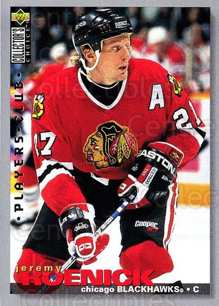 1995-96 Collectors Choice Players Club #85 Jeremy Roenick<br/>5 In Stock - $2.00 each - <a href=https://centericecollectibles.foxycart.com/cart?name=1995-96%20Collectors%20Choice%20Players%20Club%20%2385%20Jeremy%20Roenick...&quantity_max=5&price=$2.00&code=153631 class=foxycart> Buy it now! </a>