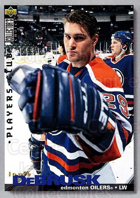 1995-96 Collectors Choice Players Club #87 Louie DeBrusk<br/>5 In Stock - $2.00 each - <a href=https://centericecollectibles.foxycart.com/cart?name=1995-96%20Collectors%20Choice%20Players%20Club%20%2387%20Louie%20DeBrusk...&quantity_max=5&price=$2.00&code=153633 class=foxycart> Buy it now! </a>