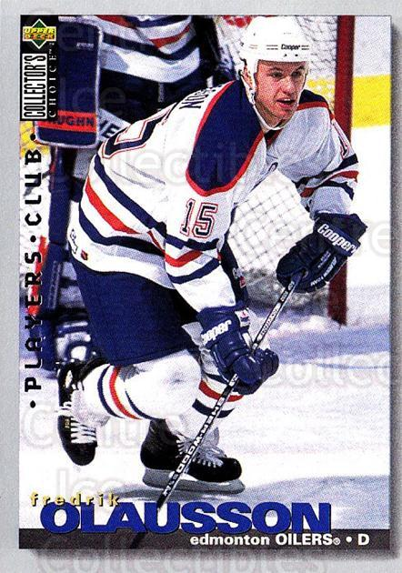 1995-96 Collectors Choice Players Club #98 Fredrik Olausson<br/>5 In Stock - $2.00 each - <a href=https://centericecollectibles.foxycart.com/cart?name=1995-96%20Collectors%20Choice%20Players%20Club%20%2398%20Fredrik%20Olausso...&quantity_max=5&price=$2.00&code=153643 class=foxycart> Buy it now! </a>