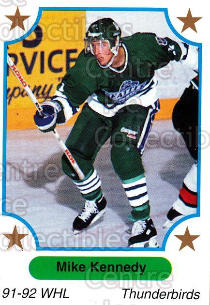 1991-92 7th Inning Sketch WHL #131 Mike Kennedy<br/>6 In Stock - $1.00 each - <a href=https://centericecollectibles.foxycart.com/cart?name=1991-92%207th%20Inning%20Sketch%20WHL%20%23131%20Mike%20Kennedy...&price=$1.00&code=15365 class=foxycart> Buy it now! </a>