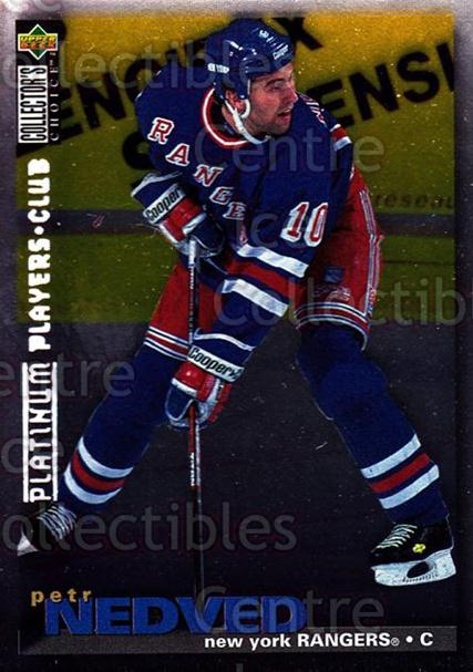 1995-96 Collectors Choice Players Club Platinum #323 Petr Nedved<br/>7 In Stock - $3.00 each - <a href=https://centericecollectibles.foxycart.com/cart?name=1995-96%20Collectors%20Choice%20Players%20Club%20Platinum%20%23323%20Petr%20Nedved...&quantity_max=7&price=$3.00&code=153693 class=foxycart> Buy it now! </a>