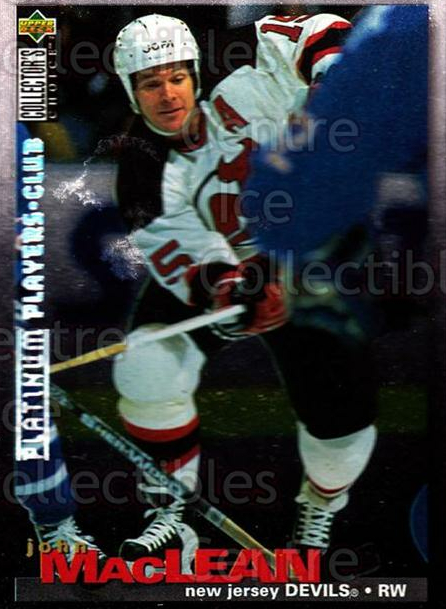 1995-96 Collectors Choice Players Club Platinum #34 John MacLean<br/>3 In Stock - $3.00 each - <a href=https://centericecollectibles.foxycart.com/cart?name=1995-96%20Collectors%20Choice%20Players%20Club%20Platinum%20%2334%20John%20MacLean...&quantity_max=3&price=$3.00&code=153707 class=foxycart> Buy it now! </a>