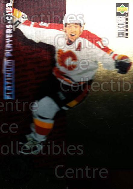 1995-96 Collectors Choice Players Club Platinum #384 Theo Fleury<br/>10 In Stock - $3.00 each - <a href=https://centericecollectibles.foxycart.com/cart?name=1995-96%20Collectors%20Choice%20Players%20Club%20Platinum%20%23384%20Theo%20Fleury...&quantity_max=10&price=$3.00&code=153745 class=foxycart> Buy it now! </a>