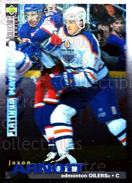 1995-96 Collectors Choice Players Club Platinum #41 Jason Arnott<br/>3 In Stock - $3.00 each - <a href=https://centericecollectibles.foxycart.com/cart?name=1995-96%20Collectors%20Choice%20Players%20Club%20Platinum%20%2341%20Jason%20Arnott...&quantity_max=3&price=$3.00&code=153755 class=foxycart> Buy it now! </a>