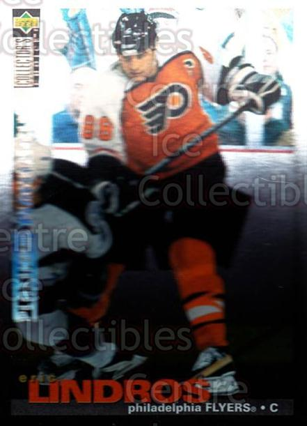 1995-96 Collectors Choice Players Club Platinum #57 Eric Lindros<br/>2 In Stock - $5.00 each - <a href=https://centericecollectibles.foxycart.com/cart?name=1995-96%20Collectors%20Choice%20Players%20Club%20Platinum%20%2357%20Eric%20Lindros...&quantity_max=2&price=$5.00&code=153768 class=foxycart> Buy it now! </a>