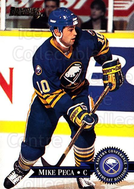 1995-96 Donruss #266 Mike Peca<br/>5 In Stock - $1.00 each - <a href=https://centericecollectibles.foxycart.com/cart?name=1995-96%20Donruss%20%23266%20Mike%20Peca...&quantity_max=5&price=$1.00&code=153818 class=foxycart> Buy it now! </a>