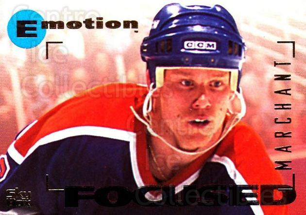 1995-96 Emotion #64 Todd Marchant<br/>4 In Stock - $1.00 each - <a href=https://centericecollectibles.foxycart.com/cart?name=1995-96%20Emotion%20%2364%20Todd%20Marchant...&quantity_max=4&price=$1.00&code=154002 class=foxycart> Buy it now! </a>