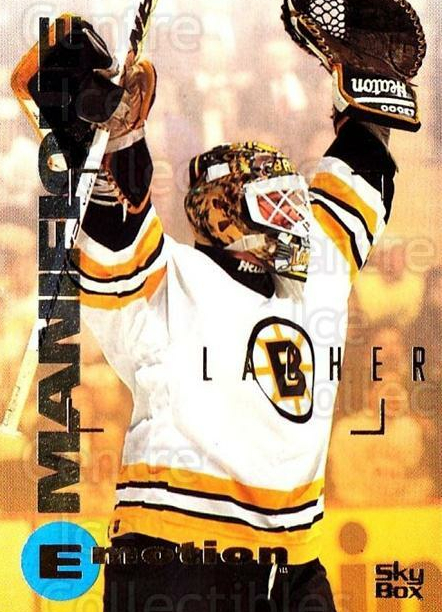 1995-96 Emotion #8 Blaine Lacher<br/>6 In Stock - $1.00 each - <a href=https://centericecollectibles.foxycart.com/cart?name=1995-96%20Emotion%20%238%20Blaine%20Lacher...&quantity_max=6&price=$1.00&code=154018 class=foxycart> Buy it now! </a>