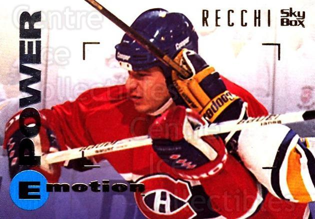 1995-96 Emotion #90 Mark Recchi<br/>4 In Stock - $1.00 each - <a href=https://centericecollectibles.foxycart.com/cart?name=1995-96%20Emotion%20%2390%20Mark%20Recchi...&quantity_max=4&price=$1.00&code=154029 class=foxycart> Buy it now! </a>