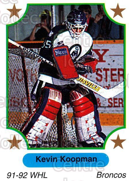 1991-92 7th Inning Sketch WHL #188 Kevin Koopman<br/>5 In Stock - $1.00 each - <a href=https://centericecollectibles.foxycart.com/cart?name=1991-92%207th%20Inning%20Sketch%20WHL%20%23188%20Kevin%20Koopman...&quantity_max=5&price=$1.00&code=15425 class=foxycart> Buy it now! </a>