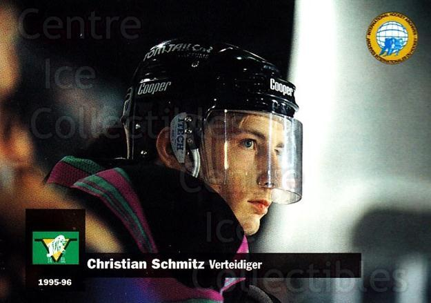 1995-96 German DEL #313 Christian Schmitz<br/>10 In Stock - $2.00 each - <a href=https://centericecollectibles.foxycart.com/cart?name=1995-96%20German%20DEL%20%23313%20Christian%20Schmi...&price=$2.00&code=154338 class=foxycart> Buy it now! </a>