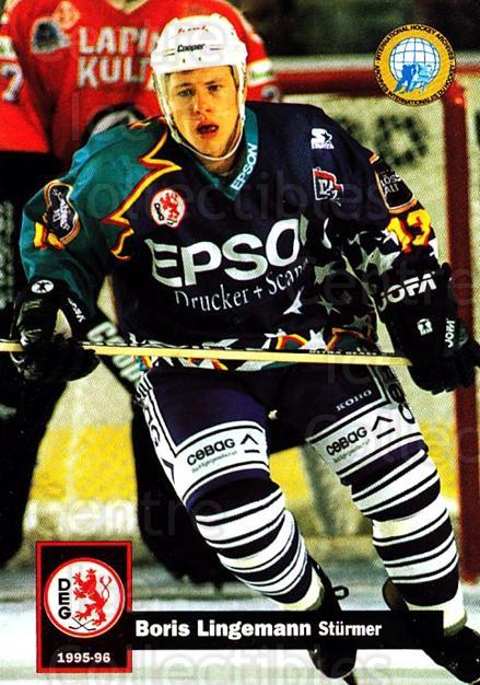 1995-96 German DEL #90 Boris Lingemann<br/>14 In Stock - $2.00 each - <a href=https://centericecollectibles.foxycart.com/cart?name=1995-96%20German%20DEL%20%2390%20Boris%20Lingemann...&quantity_max=14&price=$2.00&code=154533 class=foxycart> Buy it now! </a>
