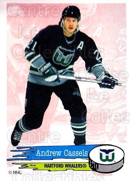 1995-96 Panini Stickers #25 Andrew Cassels<br/>6 In Stock - $1.00 each - <a href=https://centericecollectibles.foxycart.com/cart?name=1995-96%20Panini%20Stickers%20%2325%20Andrew%20Cassels...&quantity_max=6&price=$1.00&code=154592 class=foxycart> Buy it now! </a>