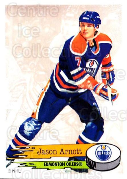 1995-96 Panini Stickers #255 Jason Arnott<br/>5 In Stock - $1.00 each - <a href=https://centericecollectibles.foxycart.com/cart?name=1995-96%20Panini%20Stickers%20%23255%20Jason%20Arnott...&quantity_max=5&price=$1.00&code=154598 class=foxycart> Buy it now! </a>