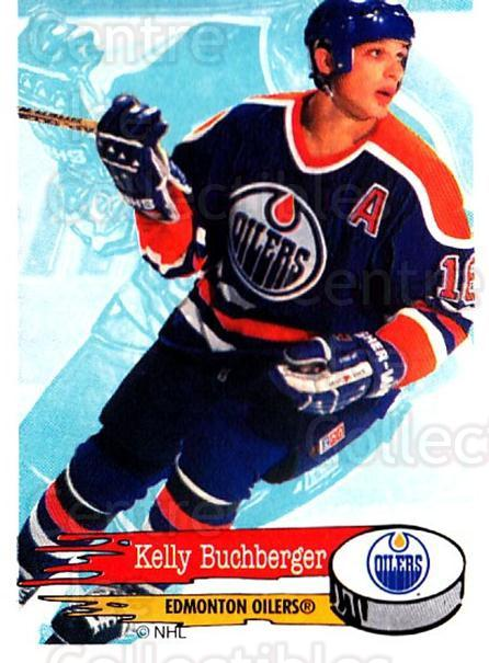 1995-96 Panini Stickers #261 Kelly Buchberger<br/>6 In Stock - $1.00 each - <a href=https://centericecollectibles.foxycart.com/cart?name=1995-96%20Panini%20Stickers%20%23261%20Kelly%20Buchberge...&quantity_max=6&price=$1.00&code=154605 class=foxycart> Buy it now! </a>