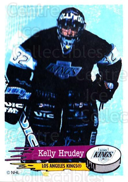 1995-96 Panini Stickers #276 Kelly Hrudey<br/>5 In Stock - $1.00 each - <a href=https://centericecollectibles.foxycart.com/cart?name=1995-96%20Panini%20Stickers%20%23276%20Kelly%20Hrudey...&quantity_max=5&price=$1.00&code=154620 class=foxycart> Buy it now! </a>