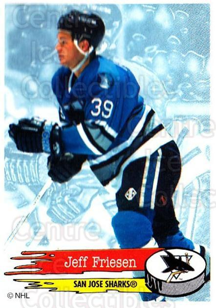 1995-96 Panini Stickers #278 Jeff Friesen<br/>4 In Stock - $1.00 each - <a href=https://centericecollectibles.foxycart.com/cart?name=1995-96%20Panini%20Stickers%20%23278%20Jeff%20Friesen...&quantity_max=4&price=$1.00&code=154622 class=foxycart> Buy it now! </a>