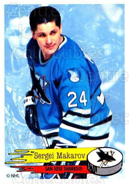 1995-96 Panini Stickers #282 Sergei Makarov<br/>6 In Stock - $1.00 each - <a href=https://centericecollectibles.foxycart.com/cart?name=1995-96%20Panini%20Stickers%20%23282%20Sergei%20Makarov...&quantity_max=6&price=$1.00&code=154627 class=foxycart> Buy it now! </a>